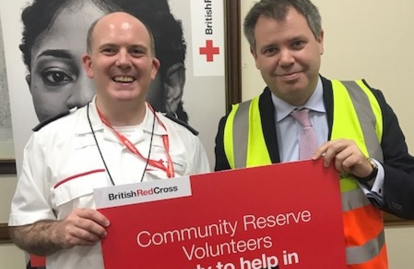Edward with the British Red Cross Team