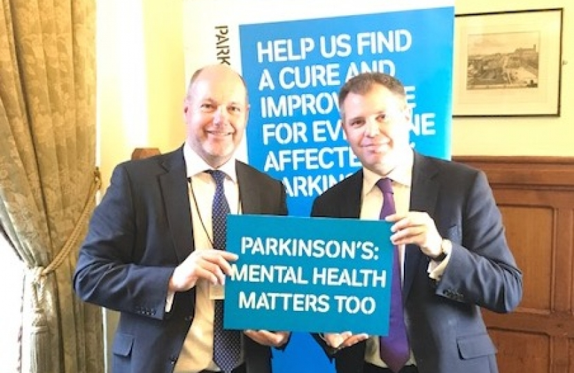 Edward at the Parkinson's UK report launch
