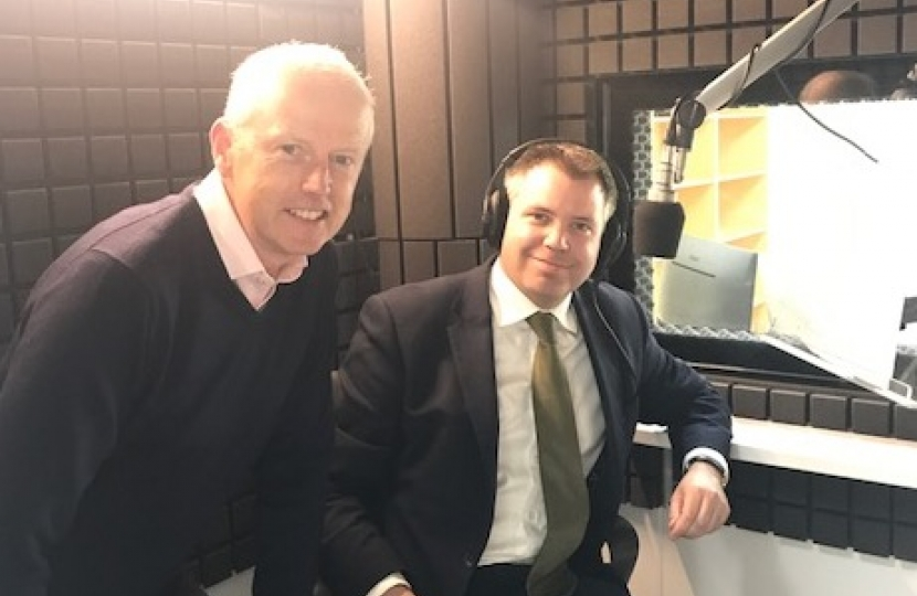Edward recording an audiobook with W F Howes General Manager