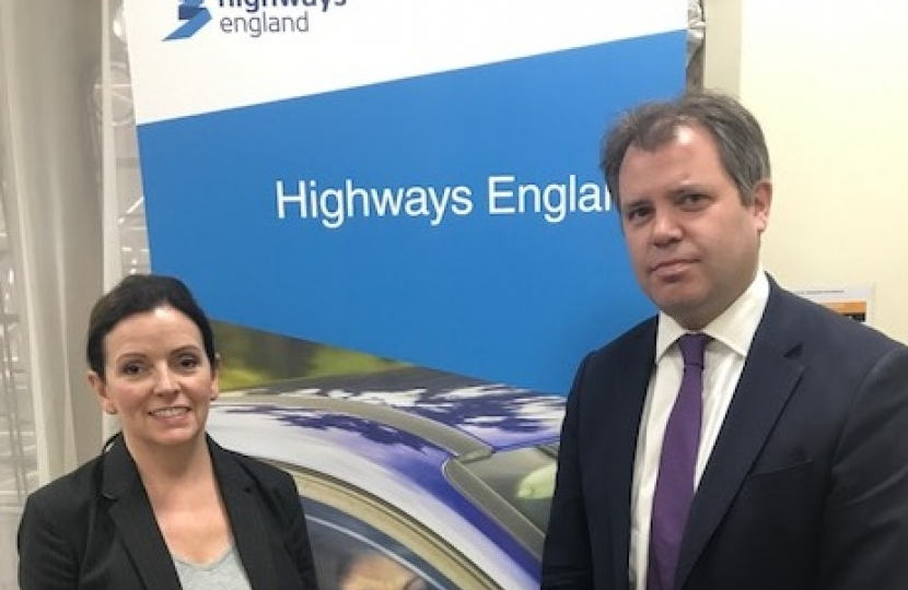 Edward with Highways England's Midlands Director